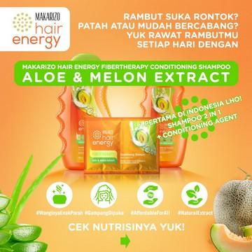 Makarizo Hair Energy Fibertherapy Conditioning Shampoo 170ml   330ml-Aloe & Melon