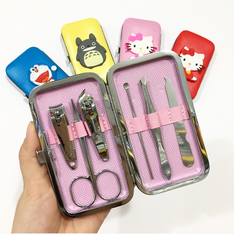 Alat Manicure Menicure Pedicure Meni Pedi Kuku Set Karakter Hello Kitty HK Doraemon Melody Stitch | Shopee Indonesia