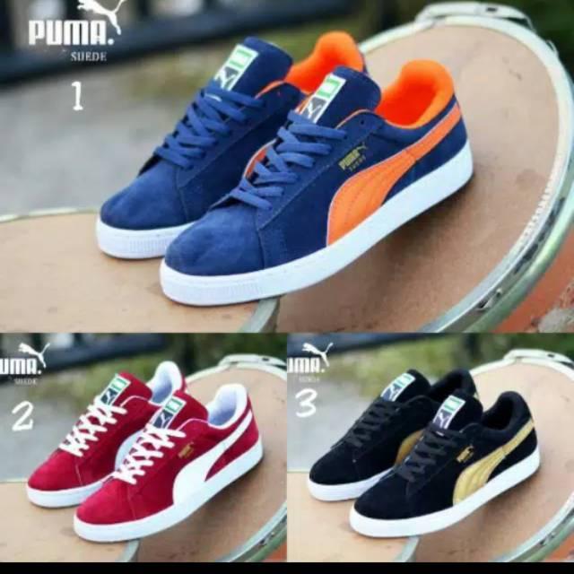 Sepatu Puma Classic Suede Sneakers Kasual Pria Skate Santai Kerja Grade Ori  Vietnam  a950122e45