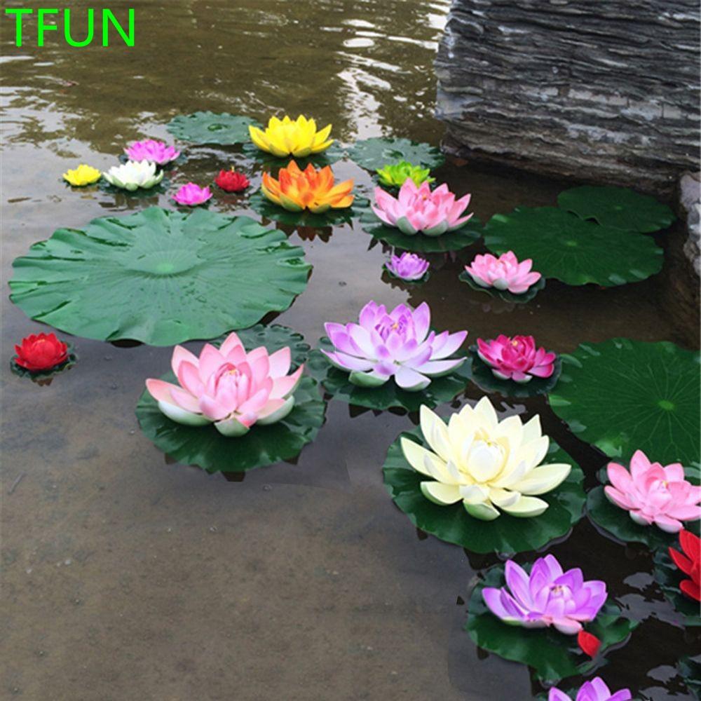 Tanaman Bunga Teratai Lily Apung 10cm Bahan Plastik Untuk Hiasan