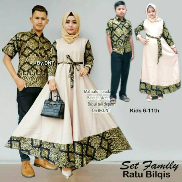 Baju Batik Couple Keluarga Model Gamis Baju Pria Anak Muslim Batik Modern Batik