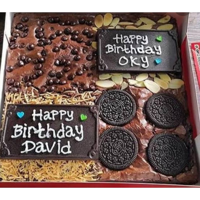 brownies ulang tahun