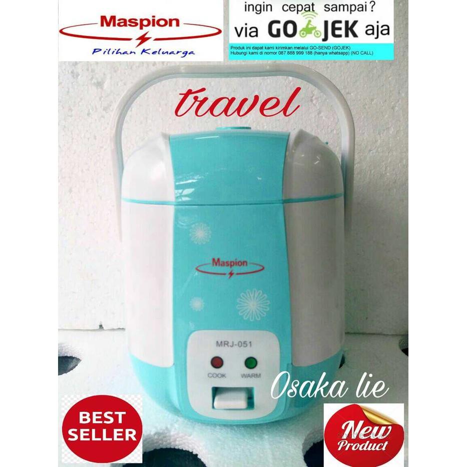 Ms Mini Rice Cooker (Travel Cooker) Maspion Mrj-051 (0.3 Liter) - Merah Muda Phd | Shopee Indonesia