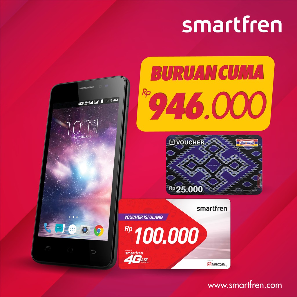 Save 21 From Brand Andromax B Se Idetik Mall Voucher Belanja Indomaret 100 000 Smartfren White Gold Gratis