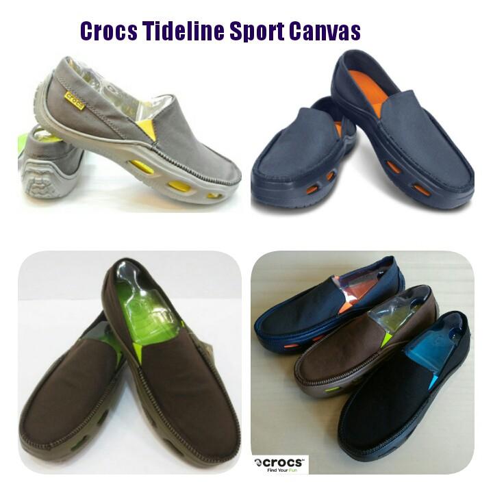 SEPATU COWOK ENGABUNI - Sepatu Crocs Tideline Sport Canvas   Shopee Indonesia