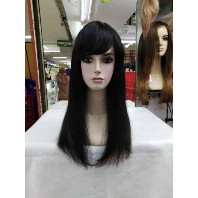 wig rambut asli/ human wig
