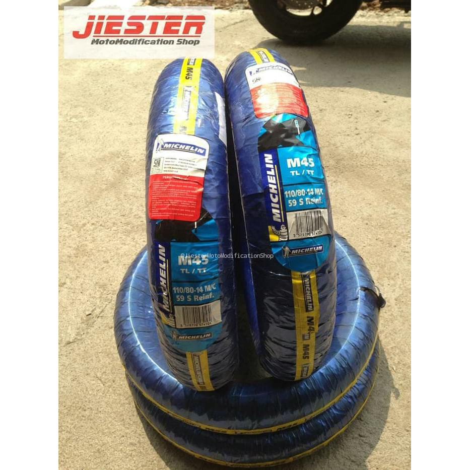 Michelin 110 80 14 M45 Ban Motor Tubeless Motif Kotak Shopee Indonesia Velg