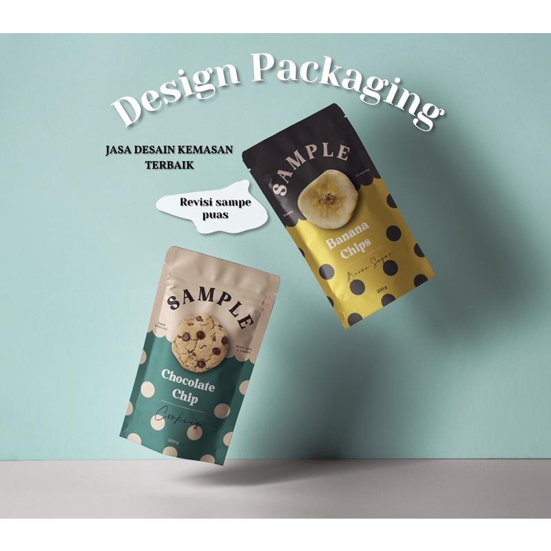 Jasa Desain Kemasan Produk & Logo (Standing pouch, Box, Sticker, dll)