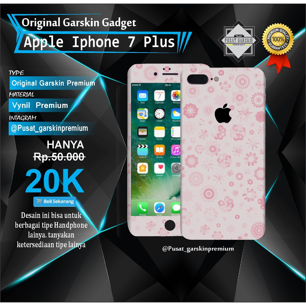 Garskin Original Apple Iphone 7 Plus - Motif Kode-08