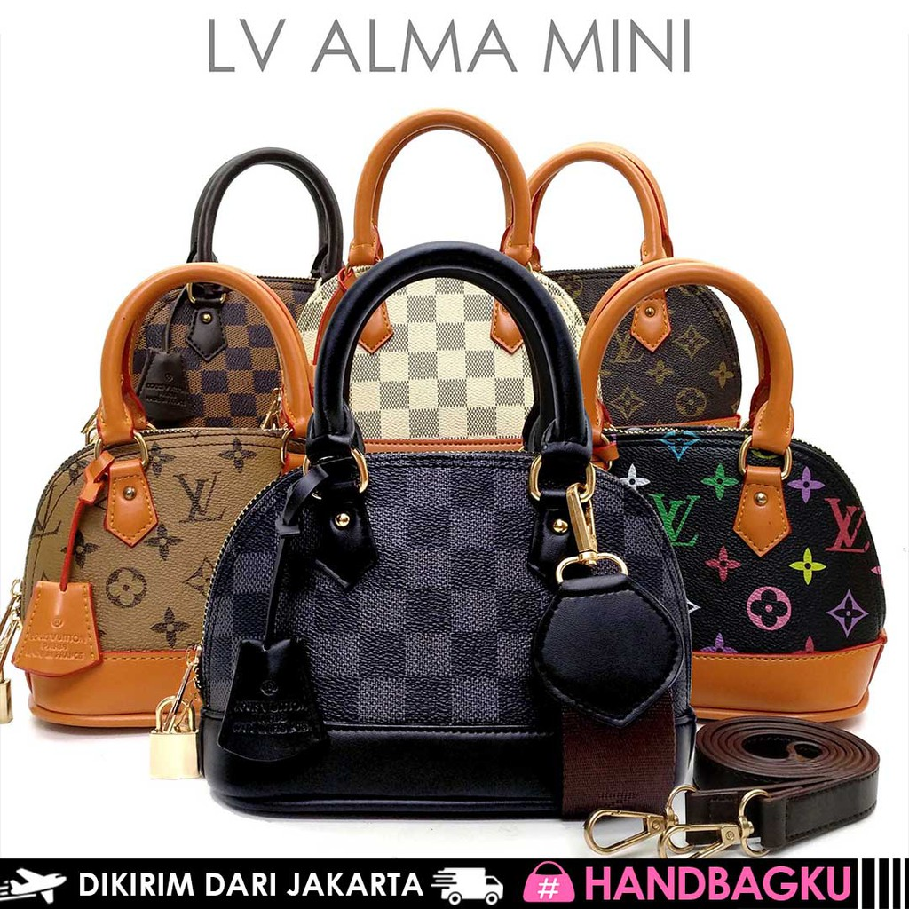 9d5524661491 2 STARP + GEMBOK TAS LV ALMA MINI FULL EMBOSED | Shopee Indonesia