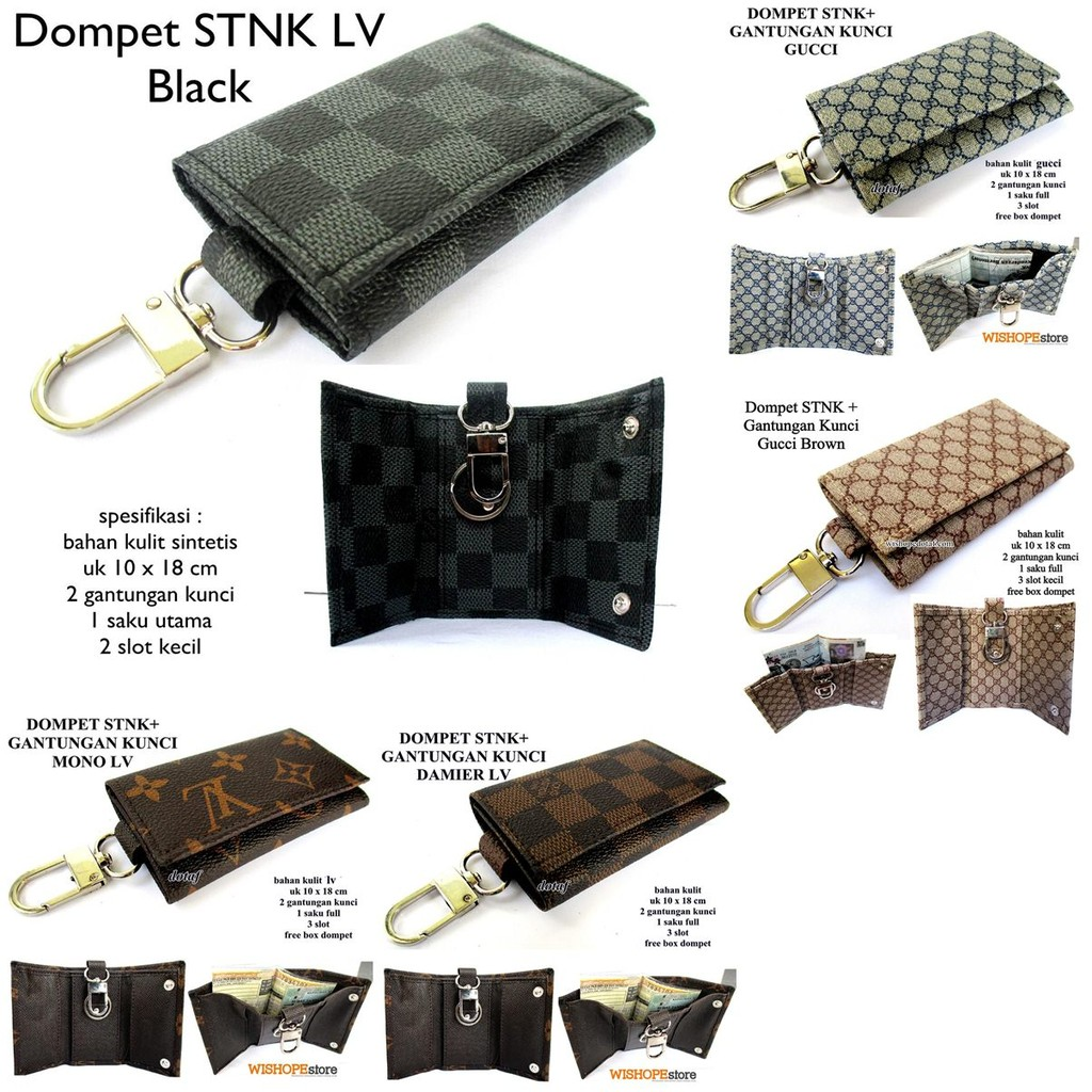 dompet stnk kulit asli unik warna tan | gantungan kunci mobil motor | Shopee Indonesia