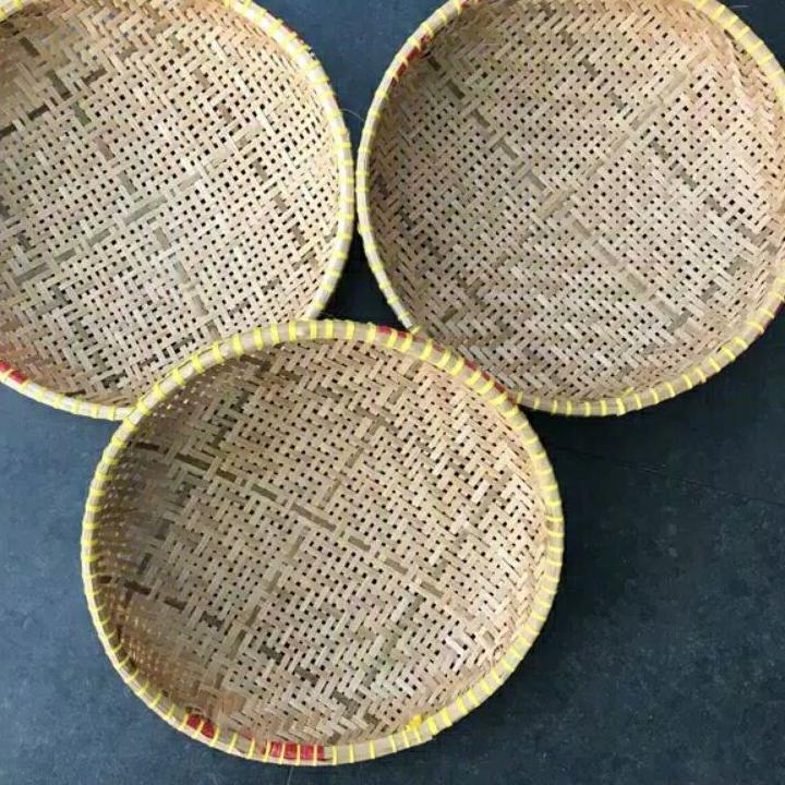 Buruan Belanja!! Anyaman bambu 1 pcs // Rotan anyaman tempat bawang rotan susun kaki besi anyaman ro