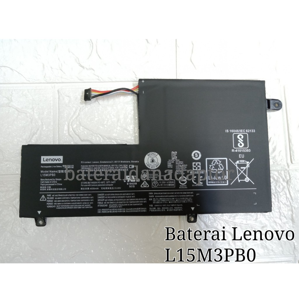 Baterai Lenovo L15M3PB0 Flex 4 1470 1570 Original | Shopee Indonesia