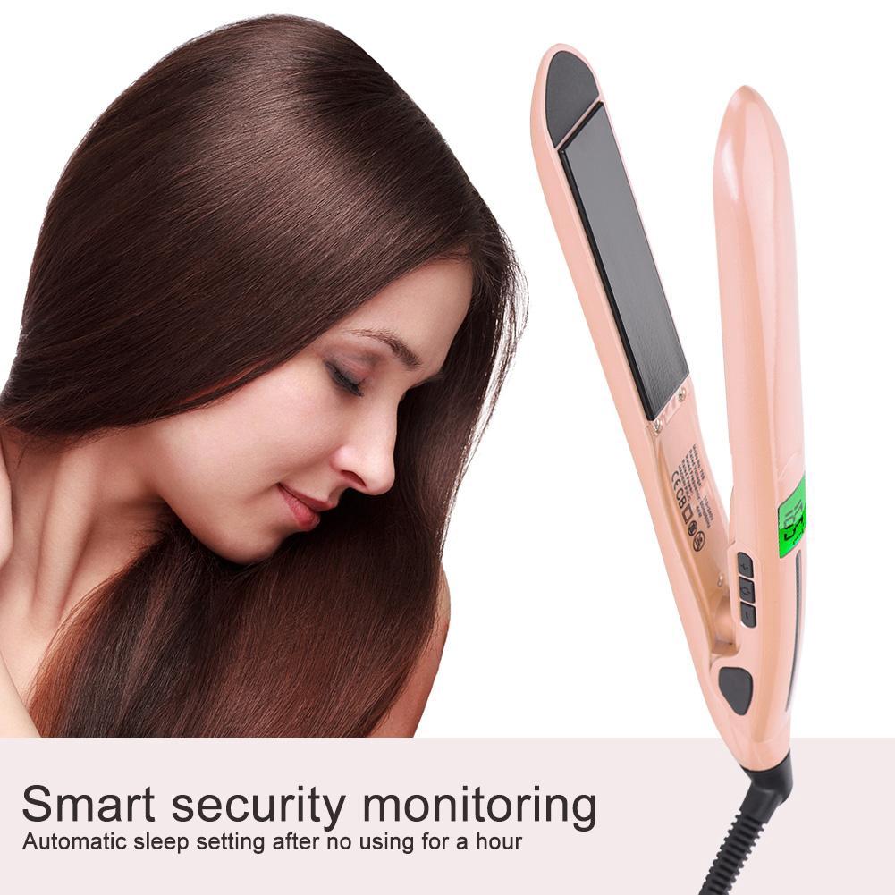 3in1 Professional Tourmaline Ceramic Hair Straightener Curler Catokan In Styler Rotating Iron Styling Tools Shopee Indonesia