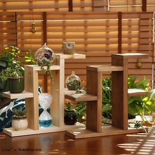 rak kayu susun serbaguna jati belanda hiasan dekorasi rak