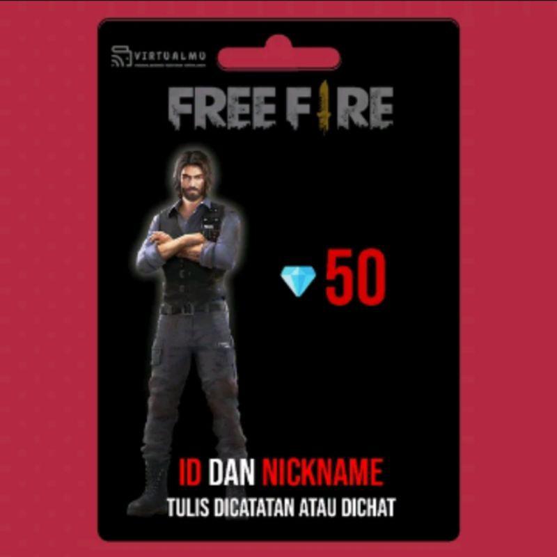 TopUp Murah DM FF .. TopUp Diamond Free Fire/FF/FreeFire 50 Dm