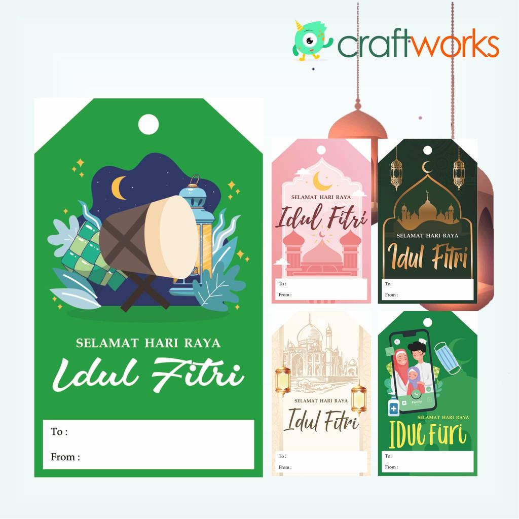 Hang Tag Lebaran Eid Mubarak Hampers Tag Souvenir Shopee Indonesia
