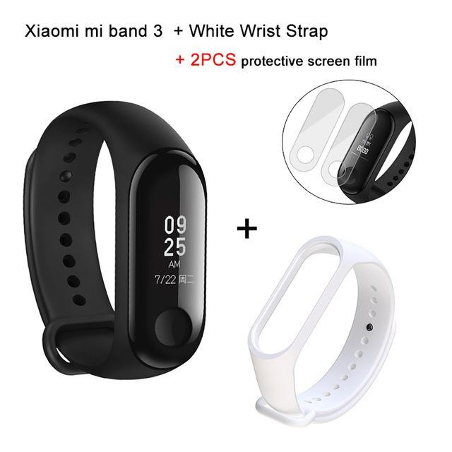 Original Xiaomi Mi band 3 Smart Bracelet+ Pink or Red replacement band and 2 screen protector | Shopee Indonesia