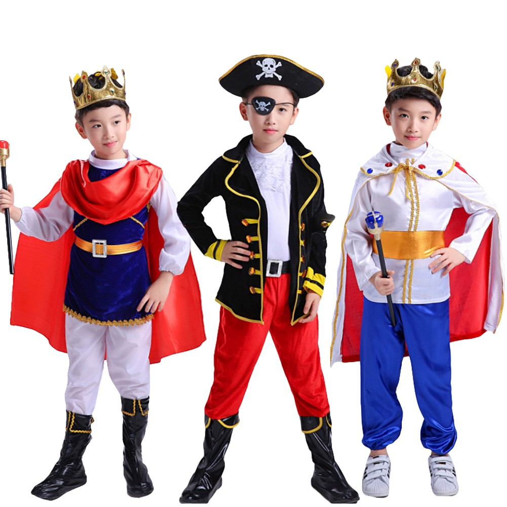 3pcs Toddler Boys Outfit Cosplay Costume Halloween Party Outfit Fancy Dress Up