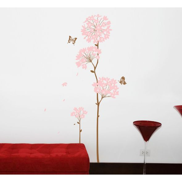 Pink Hydrangea AY816 (90x60) - Stiker Dinding / Wall Sticker | Shopee Indonesia