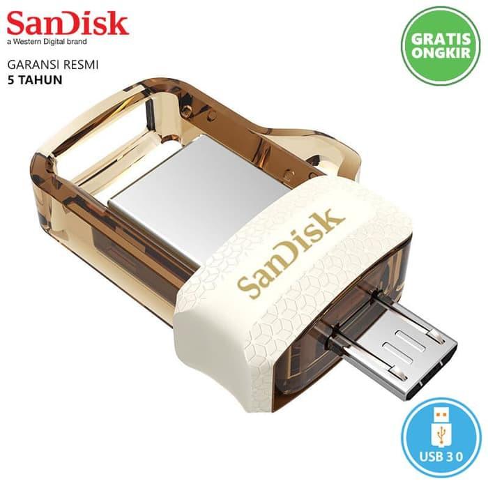 ... DI JAMIN AWET SANDISK ULTRA DUAL DRIVE M3.0 32GB USB FLASHDISK OTG ORIGINAL ...