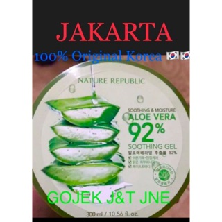 [Jaminan Original 100% Korea] Nature Republic Aloe Vera Original 92% Soothing Gel 300ml Jakarta thumbnail