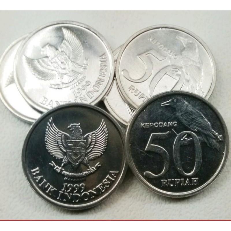 MURAH koin mahar 50 rupiah kepodang bukan 25 rupiah pala bukan 50 rupiah cendrawasih bukan 50 komodo