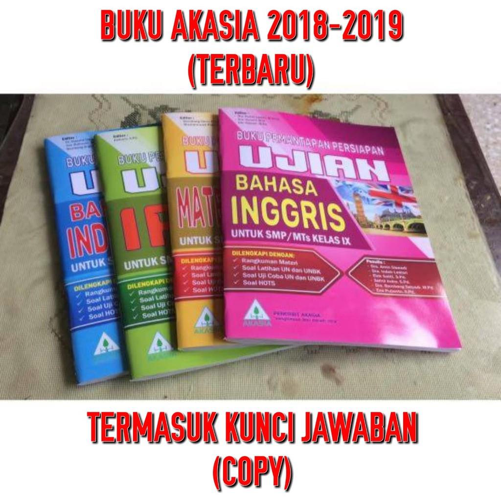 Buku Un Akasia Smp Tahun 2019 4 Paket Kunci Shopee Indonesia