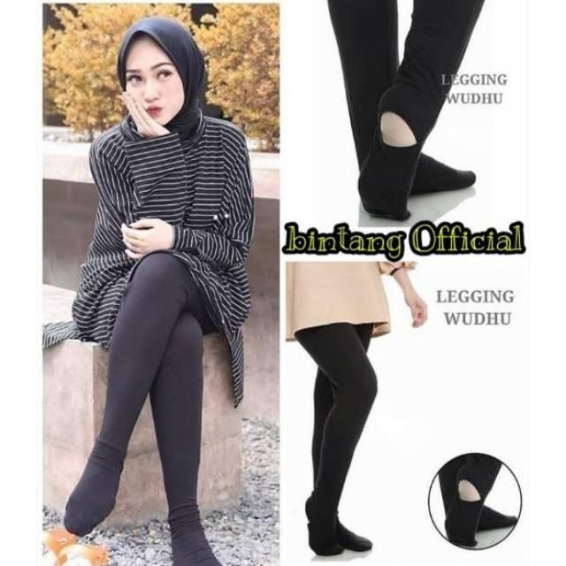 Legging Wudhu Bahan Spandex Adem Melar Shopee Indonesia