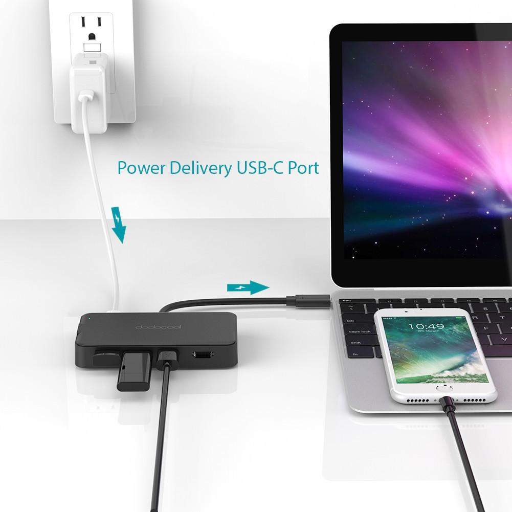 ❤RCC❤[Bayar Di Tempat]Dodocool 6 In 1 Hub Multifungsi USB C