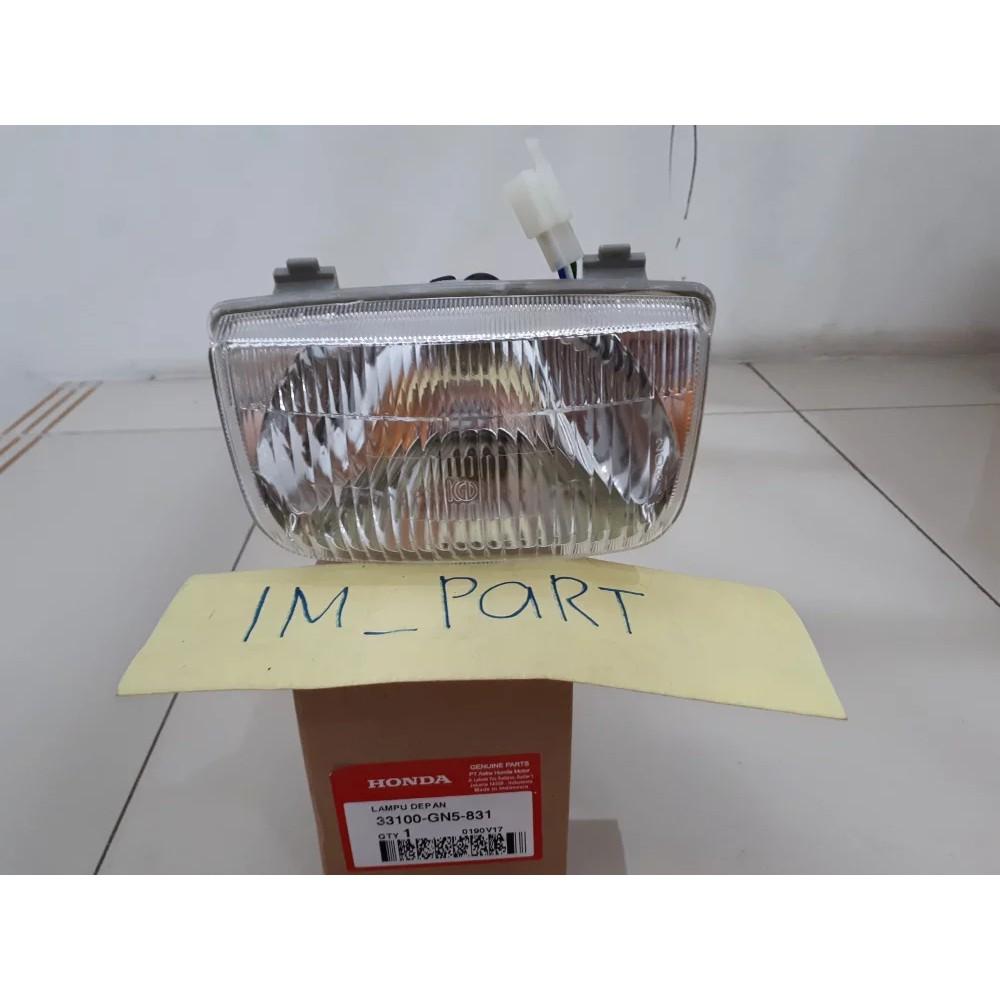 Reflektor Lampu Depan Grand Assy Plus Bohlam Dan Socket Lampu 33100-GN5-831 | Shopee Indonesia