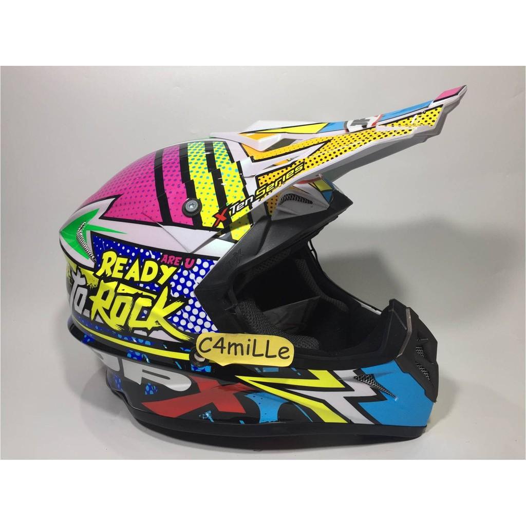 Helm Jpx Cross Full Face Trail Klx Motocross X10 Ready To Rock Black Cargloss Mxc Pro Racing Orange Sp Whity White Putih Size Xl Shopee Indonesia