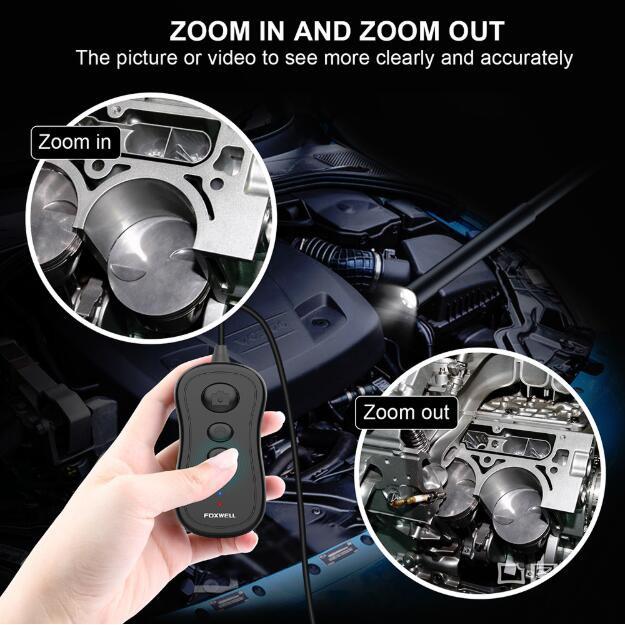 Foxwell Wireless Endoscope 5.5mm WiFi Borescope Inspection Camera 1080P HD
