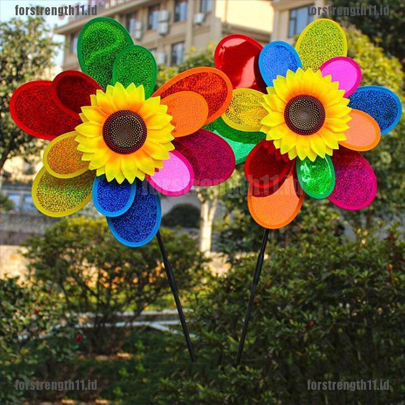 Forstreng11 Mainan Anak Diy Kincir Angin Dua Lapis Motif Bunga Matahari Warna Warni Shopee Indonesia