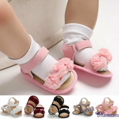 Toddlers Baby Girls Princess Kids Cute Flower Sandals Child Prewalker Shoes New