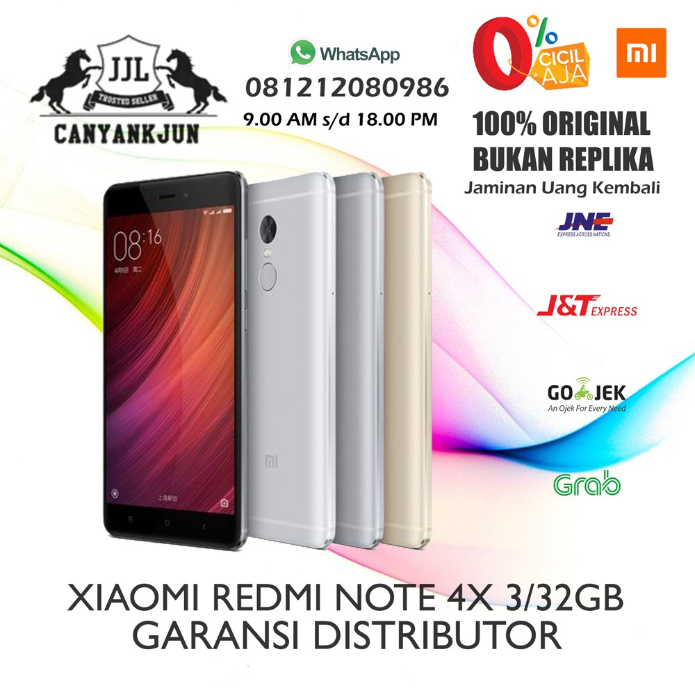 Xiaomi Redmi Note 4x Ram 4gb Internal 64gb Snapdragon Garansi 1 Mi 5 Pro 4 128 Distributor Tahun Shopee Indonesia