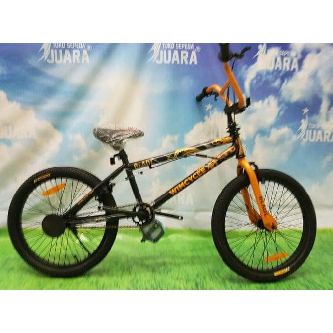 Gratis Ongkir Sepeda Bmx Wimcycle Blade Dragon Rotor 20 Inci Freestyle Harga Termasuk Ongkos Shopee Indonesia