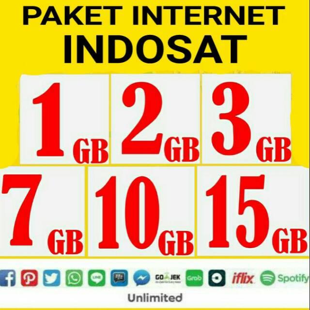Paket Internet Indosat Freedom Combo M L Xl Xxl 2gb 3gb 7gb 10gb