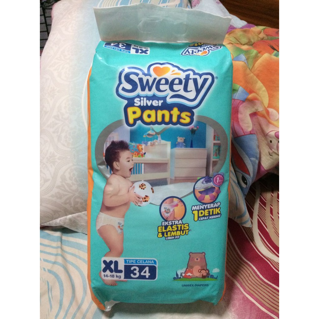 Bloom Sweety Silver Pant Pants Popok Celana S66 S 66 M60 L54 M 60 Nepia Genki New Premium Baby Diapers Soft Xl 26 L 54 Xl44 44 Promo Shopee Indonesia