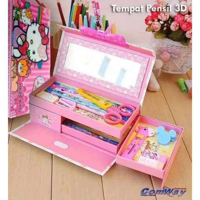 Tempat pensil kaleng import 1 set alat tulis spiderman | Shopee Indonesia