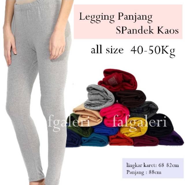 Celana Legging Panjang All Size Standar Bahan Kaos Harga Murah Grosir Shopee Indonesia