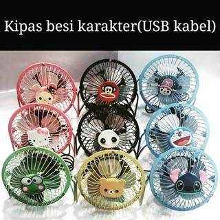 Cartoon Outdoor USB Mini Fan Charging Fan Cute Fold Lithium Battery Mini Cooling Fan Home | Shopee Indonesia