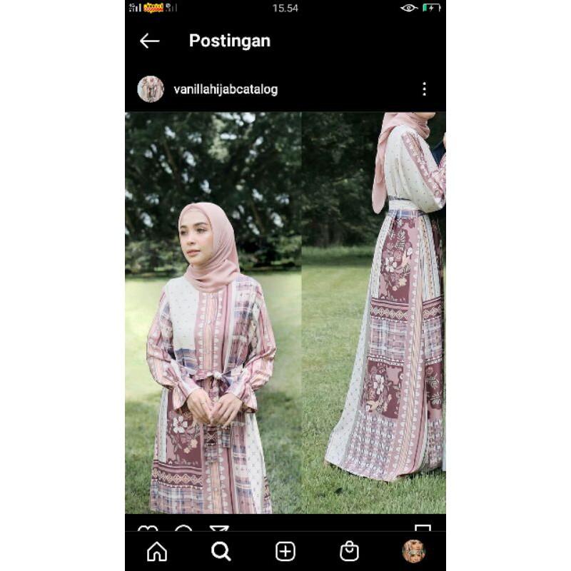 binar dress vanilla hijab