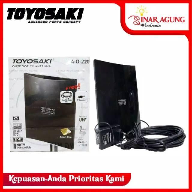 Free Kabel 10 Meter Antena Tv Digital Toyosaki Aio 220 Antena Indoor Outdoor Luar Dalam Shopee Indonesia