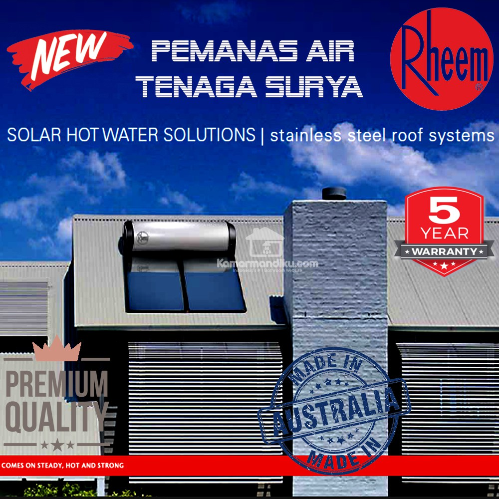Rheem Hot Water Heater >> Rheem Solar Water Heater 300 Ltr