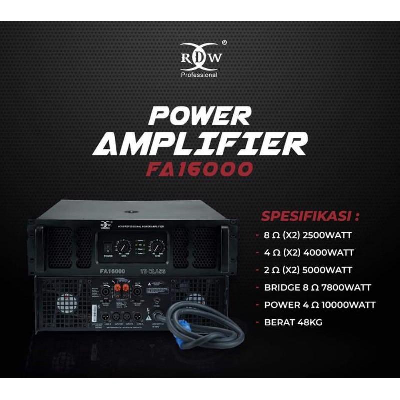 Power amplifier subwoofer RDW FA16000 GEN 2 original