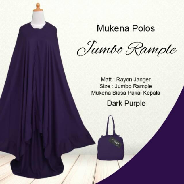 Mukena Polos EXCLUSIVE Rayon Bali Jumbo Rempel Murah Dark Purple Ungu Tua | Shopee Indonesia