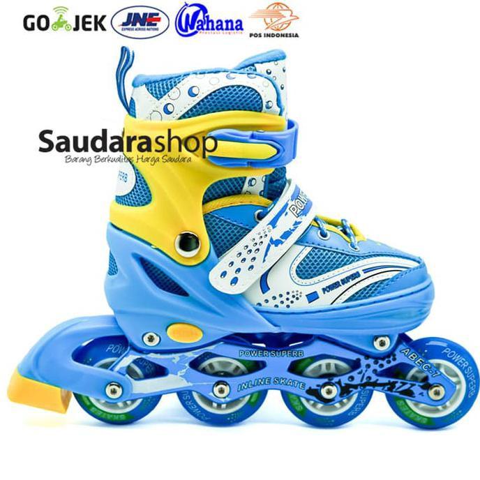 (PROMO) Sepatu Roda Inline Power Skate SUPERB Size S M L harga Grosir  Mantap  d5ae9c612d