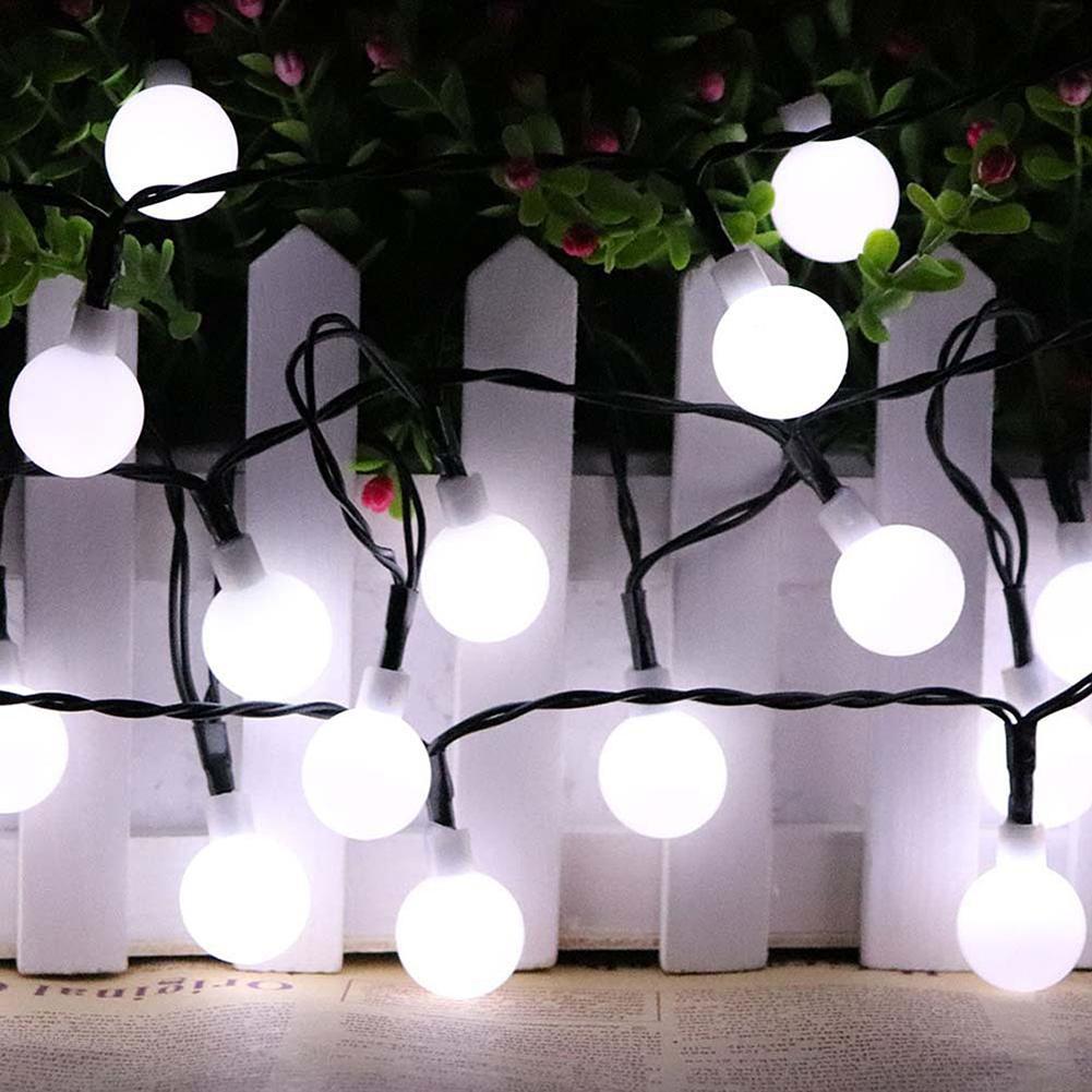 Lampu String 30 Led Bentuk Bola Rotan Untuk Dekorasi Rumah Kamar Solar Powered Garden Decoration Light 100 12 Meter Hias Taman Tidur Shopee Indonesia