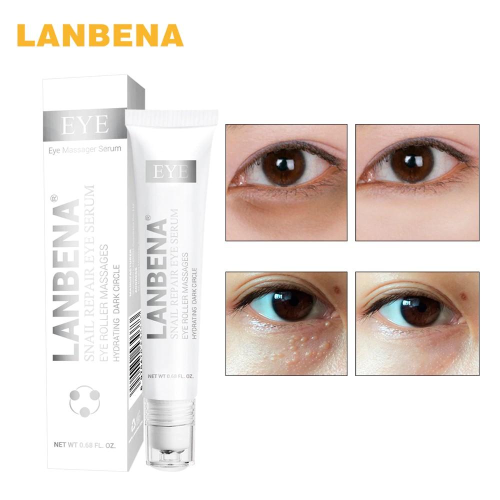 LANBENA Snail Moisturizing Ampoule Capsule Facial Cream + Wrinkles Eye Serum acne Treatment | Shopee Indonesia
